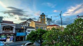 Genomskärning för flyg- sikt i den Phuket staden Royaltyfria Bilder