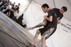 Genou mélangé d'arts martiaux d'IMB Photographie stock libre de droits