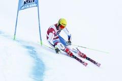 GENOUD Amaury in Audi Fis Alpine Skiing World-de Reus van Kopmen's royalty-vrije stock afbeelding