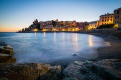 Genova на заходе солнца Стоковое фото RF