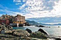 Genova Boccadasse Immagini Stock Libere da Diritti