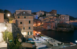 Genova Boccadasse at evening Stock Photography