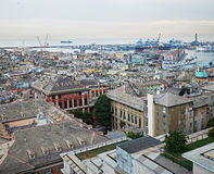 Genova cityscape with the port in background. Italy. Stock Photo