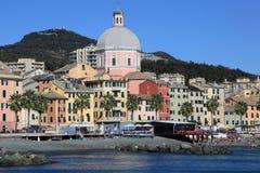 Genova coastline and beach Royalty Free Stock Photos