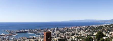 Genova da sopra Fotografie Stock Libere da Diritti