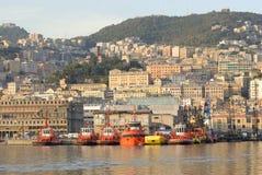 Genova dal mare fotografie stock libere da diritti