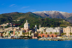 Genova dal mare fotografia stock