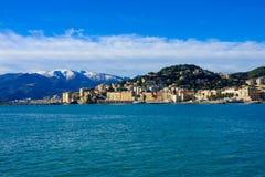 Genova dal mare immagini stock libere da diritti