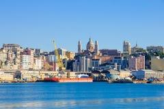 Genova dal mare fotografia stock libera da diritti