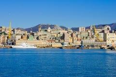 Genova dal mare immagini stock
