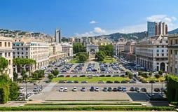 Genova - della Vittoria della piazza fotografie stock libere da diritti