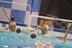 GENOVA, FEBRUARY, 27: Goran Volarevic  ( goalie  BPM SPort Manag. Ement) in   Brescia - BPM Sport Management  ( Italian Cup) on February 27, 2015 , Genova ( Royalty Free Stock Photo