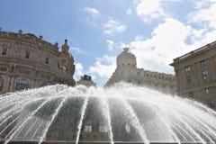genova Fontana di Piazza de Ferrari fotografia stock
