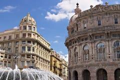 genova Fontana di Piazza de Ferrari immagini stock libere da diritti