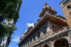 Genova, Italia Dettaglio di Palazzo Doria-Tursi fotografia stock libera da diritti