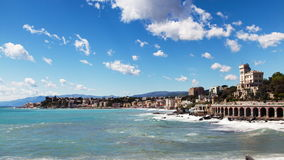 Genova, Italia, timelapse, seacost archivi video