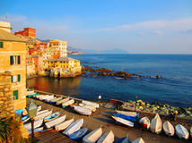 Genova, Italy. Boccadasse part of town in Genova, Italy Royalty Free Stock Photo