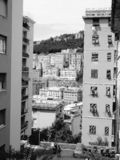 Genoa in black and white stock photography