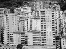 Genoa in black and white stock photo