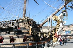Genova, Italy. July 6, 2014. Galeon Neptune royalty free stock photos