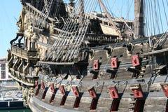 Genova, Italy. July 6, 2014. Galeon Neptune. Used in the movie Pirates of Roman Polanski royalty free stock image