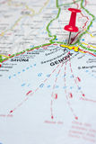 Genova italy Map Royalty Free Stock Photography