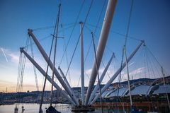 Old city port in Genova, Italy stock photos