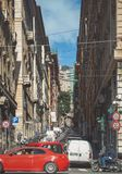 Traditional Italian architecture in Genova Italy stock photo