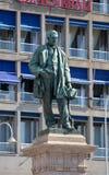 Raffaele Rubattino statue in Genova stock image