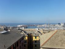 Genova Italy. Water Sky Blue Stock Photo