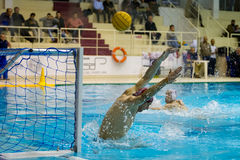 GENOVA, JANUARY  22:  Francesco Ferrari, goalie Rari Nantes Sori. A water polo goalie during a water polo game Stock Photography