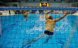 GENOVA, JANUARY  22:  Francesco Ferrari, goalie Rari Nantes Sori. A water polo goalie during a water polo game Stock Images