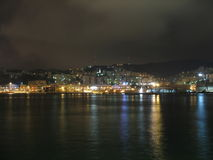Genova at night. Noise reduction: Helicon Filter; long exposure, with tripod, Canon A620 Royalty Free Stock Photo