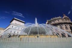 Genova piazza di ferrari Royaltyfria Foton