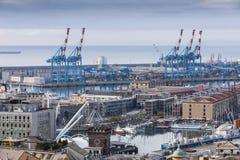 genova port Royaltyfria Foton