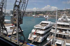 Genova Port Italy the yacht show Stock Photo