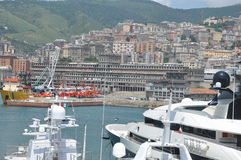 Genova Port Italy the yacht show Stock Photography