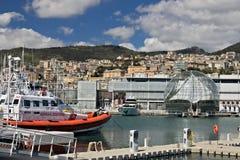 genova Porto ed acquario antichi fotografie stock libere da diritti