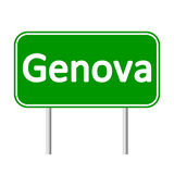 Genova road sign. Genova road sign isolated on white background Royalty Free Stock Photo