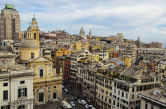 Genova sikt Arkivfoto