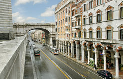 On Genova street. Royalty Free Stock Photos
