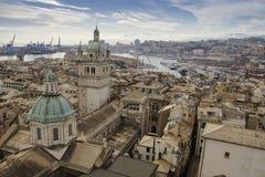 Genova view. Roofs of beautiful Genova, Italy Royalty Free Stock Photos