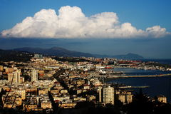Genova view from the west Royalty Free Stock Photo