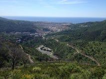 Genova views and mountains royalty free stock photo