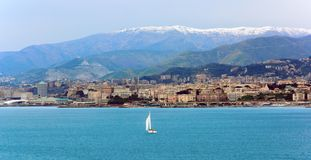 Genova waterfront, Italy Stock Image