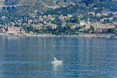 Genova waterfront, Italy Royalty Free Stock Photos