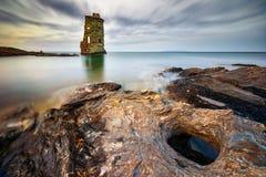 Genovese tower Santa Maria Royalty Free Stock Photography