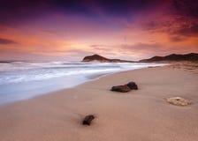Genoveses beach and sea Stock Photo