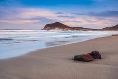 Genoveses Strand und Meer lizenzfreie stockfotos