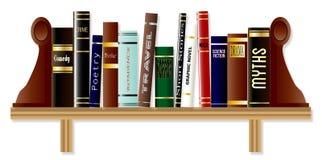 Genre-Buch-Regal Stockfotos